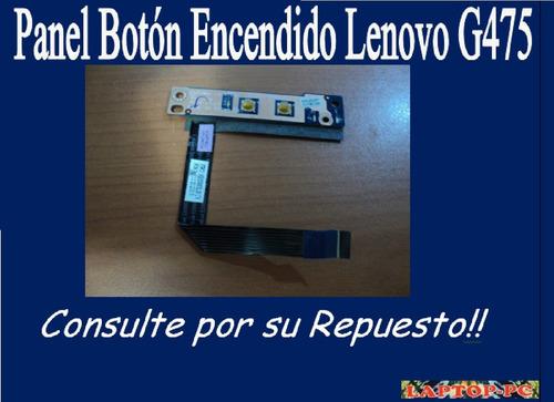 panel botón encendido lenovo g475
