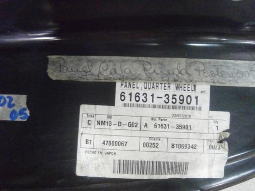 panel caja rueda trasera derecha 4runner 02-05