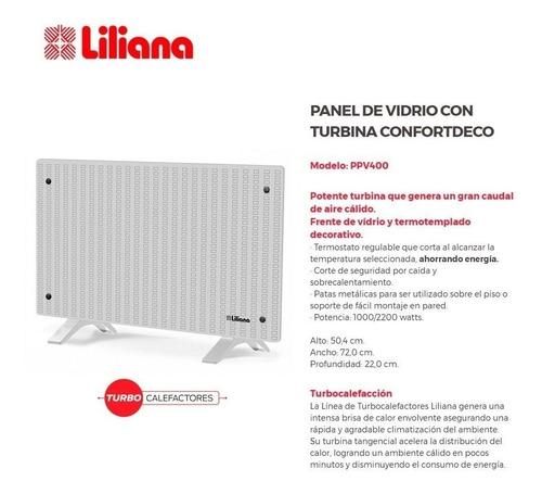 panel calefactor liliana ppv400 confortdeco 2200w pie pared