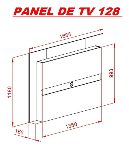 panel colgante para tv led / lcd 128 mosconi melamina