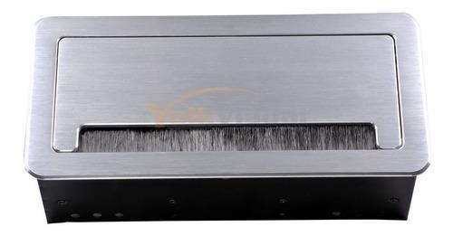 panel con conectores para mesas de salas de junta -