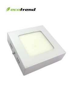 panel cuadrado adosable led, potencia 6w, color de luz 4000k