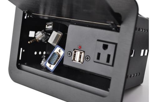 panel d conectividad con cable para mesas d salas de junta