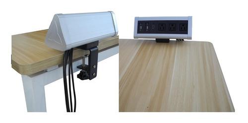 panel de conectividad para mesas de salas de junta