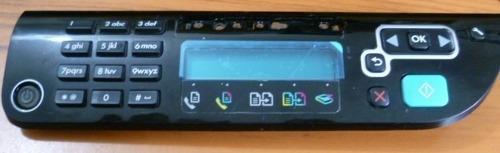 panel de control de impresora hp 4500
