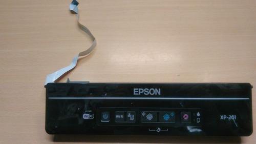 panel de control epson xp-201
