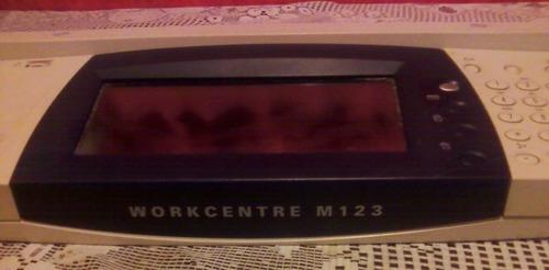 panel de control multifuncional xerox workcentre m123