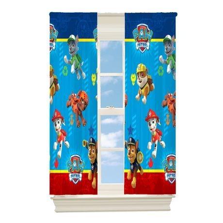 panel de cortina para habitacion paw patrol envio gratis
