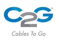 panel de gestión de cable vertical c2g negro 35 in.
