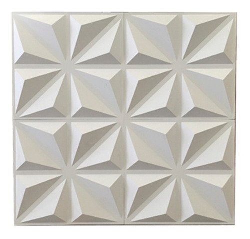 panel decorativo 3d pvc diamante 50x50 pared x unidad