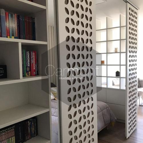 panel decorativo biombo separadores calado hoja en crudo