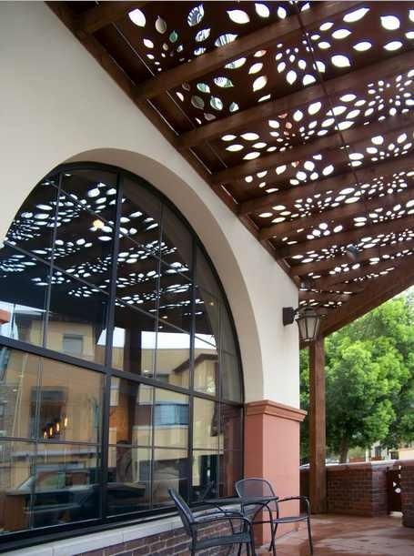 Panel decorativo metal celosia sombra jardin divisiones Celosia para jardin