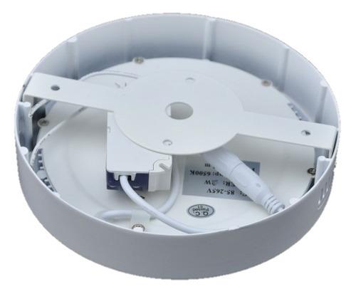 panel deled circular superficial 18 watts - blanco puro
