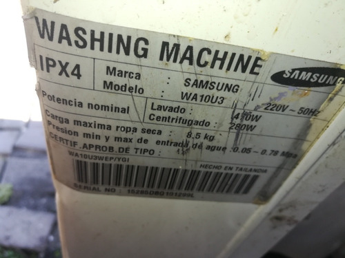 panel electonico lavadora samsumg wa10u3