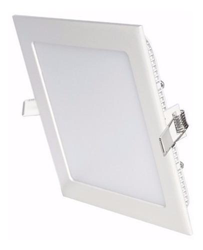 panel embutir led 6w cuadrado 220v frio cálido blanco 220v