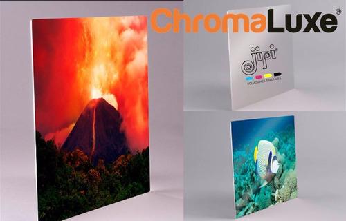 panel fotográfico aluminio brillant chromaluxe 12x24 pulgada