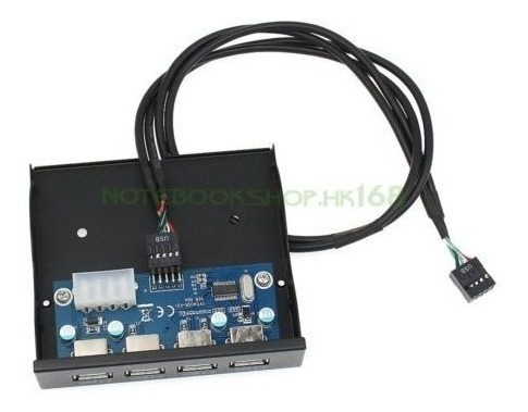 panel frontal de floppy bay de 3.5 pulgadas 4 puertos conect