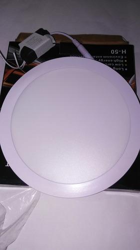 panel lámpara led para empotrar redonda de 18w mayor6v