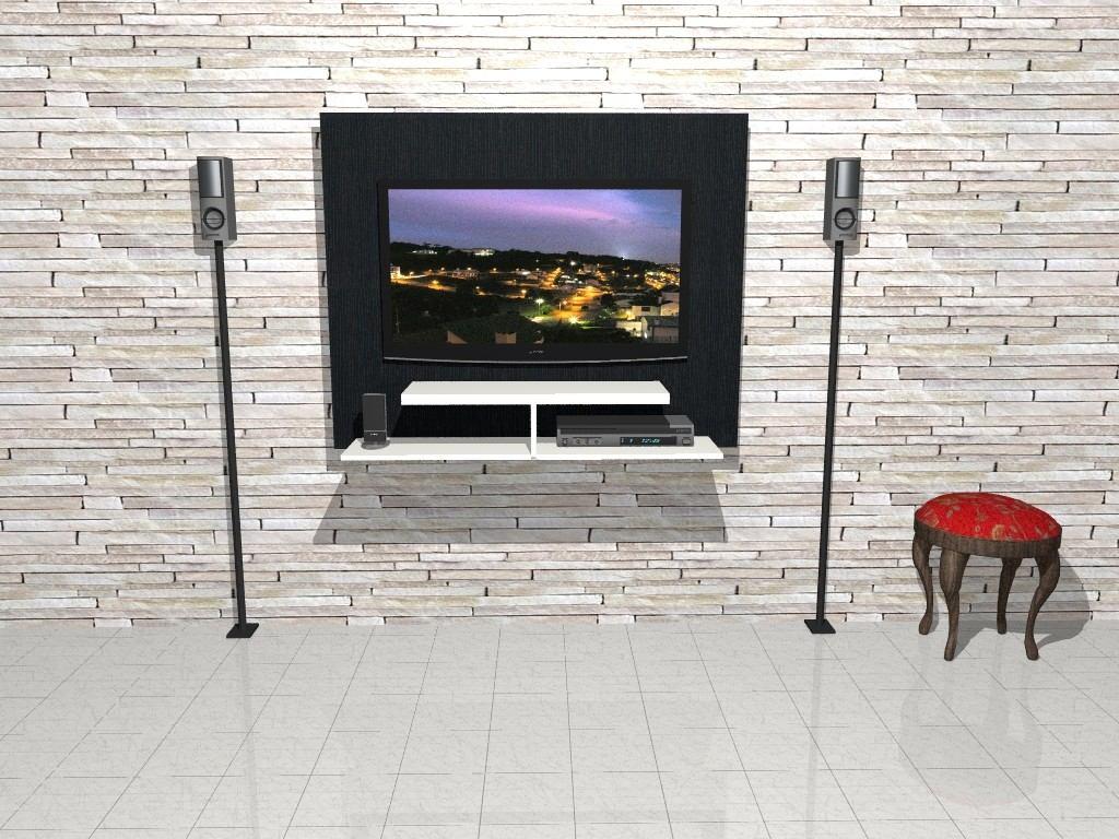Panel Lcd Led Tv Rack Modular Moderno Mueble Lcd Pesaro  # Muebles Cipriano Lanus