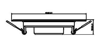 panel led 11w redondo spot embutir blanco calido/frio candil