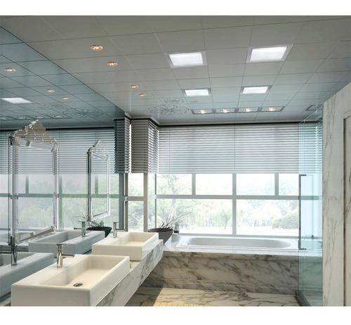 panel led 12w cuadrado incrustar 17x17cm luz blanca o calida