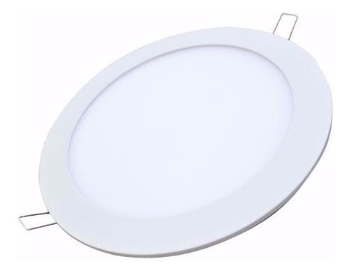 panel led (12w) incrustar redondo luz blanca