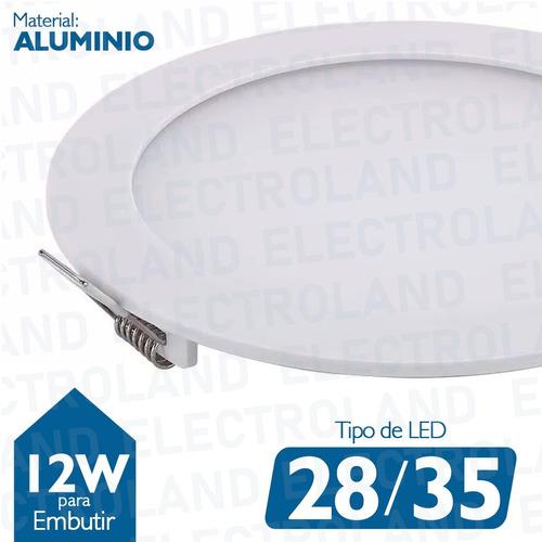 panel led 12w plafon spot redondo embutir frio 220v