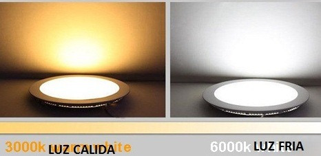 panel led 16w redondo embutir luz fria / calida candil spot