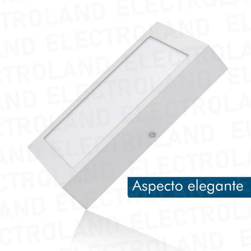 panel led 18w cuadrado exterior ahorro frio 80% bajo consumo
