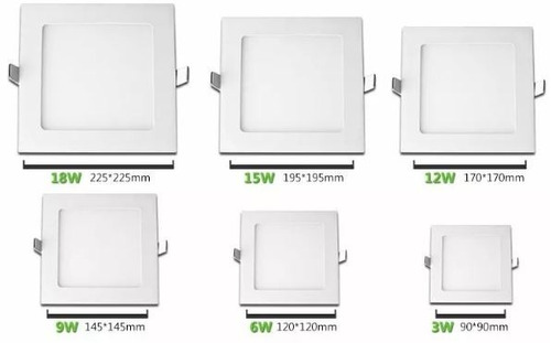 panel led 18w para incrustar  redonda / cuadrad