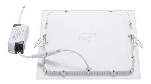panel led 18w plafon cuadrado embutir luz calida fria neutr#