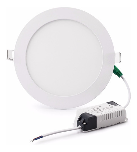 panel led 18w plafon redondo embutir luz calida fria neutr#
