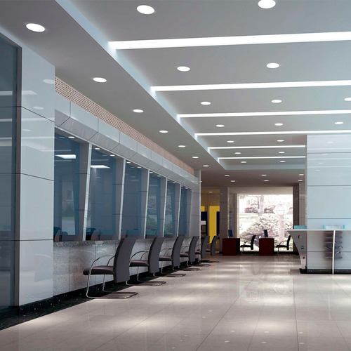 panel led 18w plafon redondo exterior luz calida fria neutr#