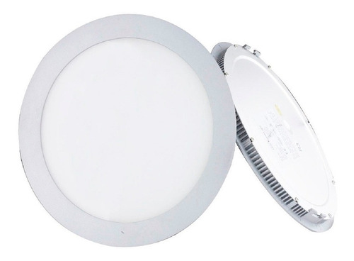 panel led 18w redondo incrustar 8'' luz blanca o calida