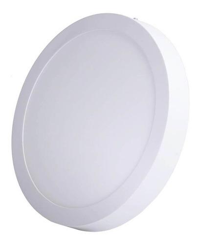 panel led 18w redondo sobreponer 8'' luz blanca o calida