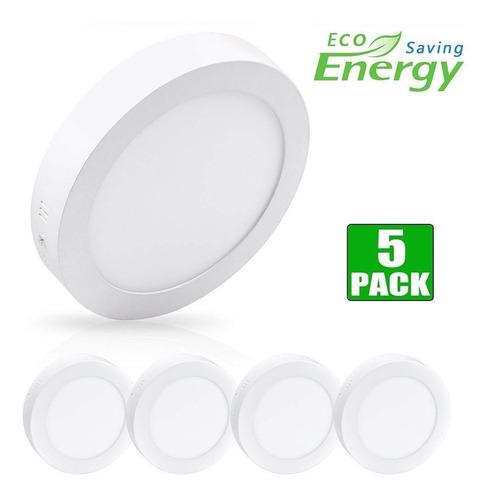 panel led 18w sobreponer luz blanca pack x 5 uni certificada