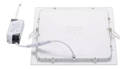 panel led 18w spot embutir cuadrado luz calida fria 1500 lm