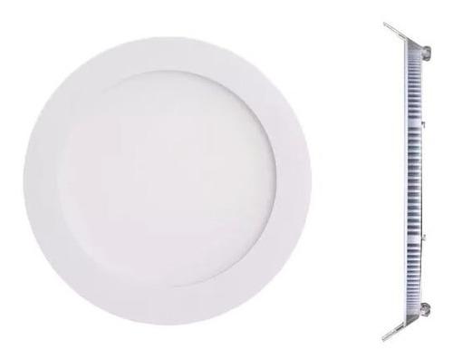 panel led 18w spot embutir redondo luz calido fria 1500 lm