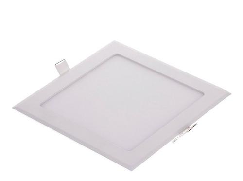 panel led 24w cuadrado incrustar 30x30cm luz blanca o calida