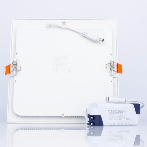 panel led 24w slim cuadrado empotrable luz calida foco spot