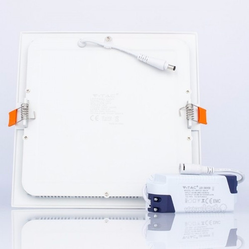 panel led 24w slim cuadrado empotrable luz fria foco spot