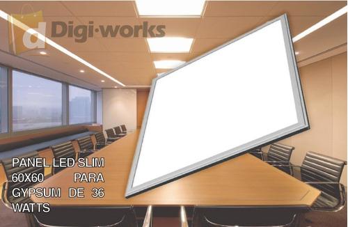 panel led 60x60 blanco slim colgante 36 watts