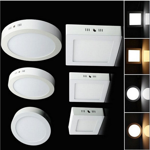 panel led 9w. 15w. marco color aluminio elegante fino diseño