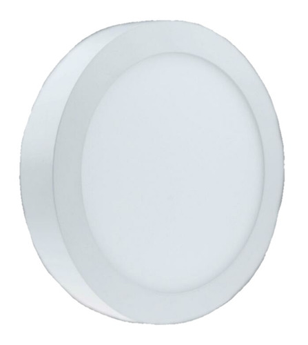 panel led circular superficial 18 watts - blanco puro