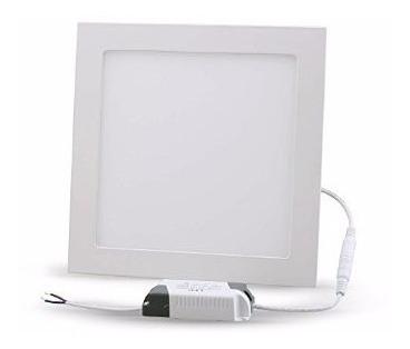panel led cuadrado 24w blanco cálido embutir ideal durlock