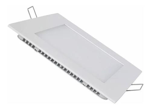 panel led embutir 18w cuadrado frio calido ahorro 80% 220v