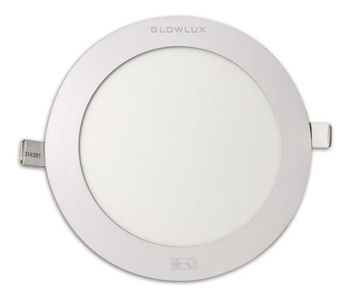 panel led embutir 18w redondo luz fría - glowlux - e. a.