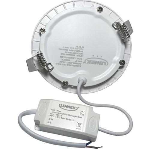 panel led fino 6w redondo incrustar 4 luz blanca o calida