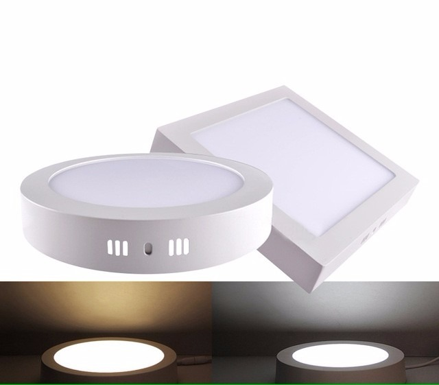 panel led lampara plafon techo superficial w luz blanca