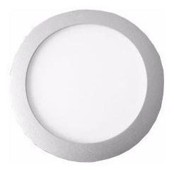 panel led redondo 18w blanco frío de embutir ideal durlock